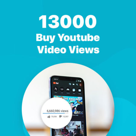 13000 youtube video views