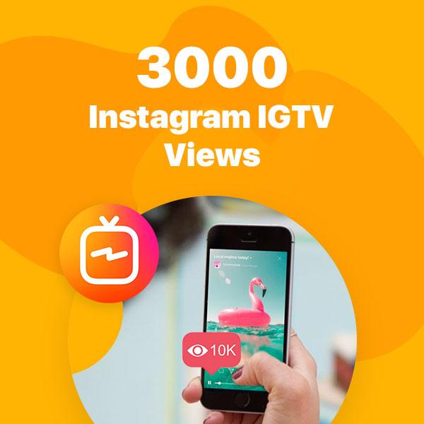 3000 instagram igtv views