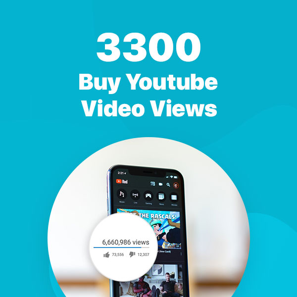 3300 youtube video views