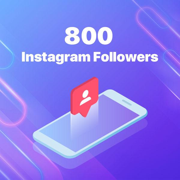 800 instagram followers