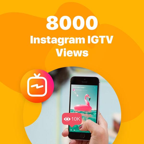8000 instagram igtv views