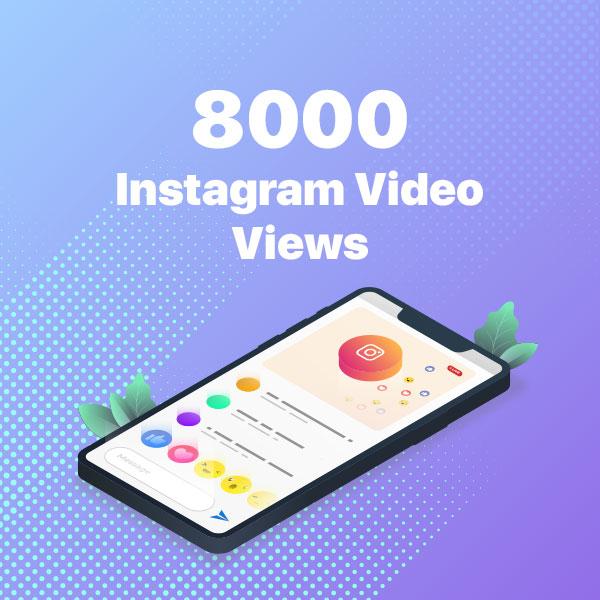 8000 instagram video views
