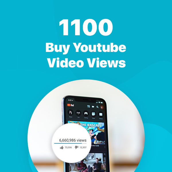 1100 youtube video views